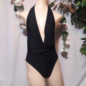 Shape fx Swim black halter 1 piece swimsuit 4